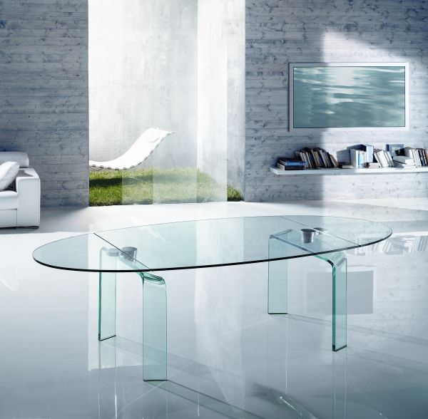 Reflex Tavoli Cristallo Allungabili.Dining Table Policleto Reflex Oval