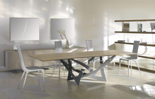 Tavoli Cristallo Allungabili Reflex.Dining Table Policleto Reflex Oval